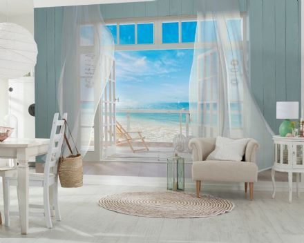Sea view from Beach House wall mural